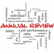 Stock Photo: Annual Review Word Cloud Concept in red caps