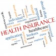 Health Insurance Word Cloud Concept Angled — Stock Photo #38038843