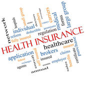 Health Insurance Word Cloud Concept Angled — Stock Photo