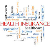 Health Insurance Word Cloud Concept — Stock Photo