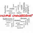 Stock Photo: Home Ownership Word Cloud Concept in red caps