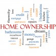 Stock Photo: Home Ownership Word Cloud Concept