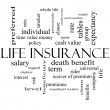 Stock Photo: Life Insurance Word Cloud Concept in black and white