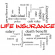 Life Insurance Word Cloud Concept on Blackboard — Stock Photo #38064207