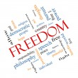 Freedom Word Cloud Concept Angled — Stock Photo