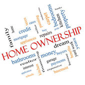 Home Ownership Word Cloud Concept Angled — Stock Photo