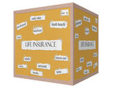 Life Insurance 3D cube Corkboard Word Concept — Stock Photo