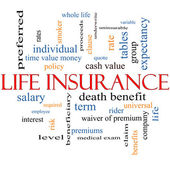 Life Insurance Word Cloud Concept — Stock Photo