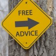 Stock Photo: Free Advice Arrow Sign on Tree
