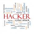 Stock Photo: Hacker Word Cloud Concept