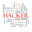 Hacker Word Cloud Concept — Stock Photo