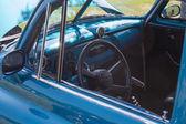 1952 blå chevy leverans sedan interiör — Stockfoto