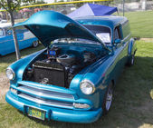1952 Blue Chevy Delivery Sedan Front View — Stock fotografie