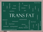 Trans Fat Word Cloud Concept on a Blackboard — Stock Photo