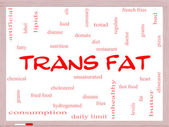 Trans Fat Word Cloud Concept on a Whiteboard — Stock Photo