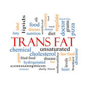 Trans Fat Word Cloud Concept — Stock Photo
