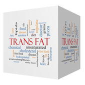 Trans Fat 3D Cube Word Cloud Concept — Stock Photo