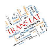Trans Fat Word Cloud Concept Angled — Stock Photo