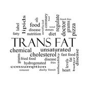 Trans Fat Word Cloud Concept in black and white — Stock Photo