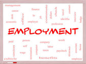 Employment Word Cloud Concept on a Whiteboard — Foto de Stock