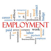 Employment Word Cloud Concept — Stockfoto