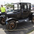 Stockfoto: Black Ford Model T Car Side View