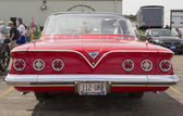 1961 Red Chevy Impala Rear View — Stock Photo