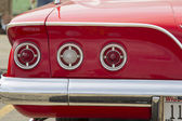 1961 Red Chevy Impala Tail Lights — Stock Photo