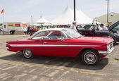 1961 Red Chevy Impala Side View — Stock Photo