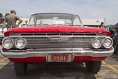 1961 Red Chevy Impala Front View — Stock Photo