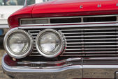 1961 Red Chevy Impala headlights — Stock Photo