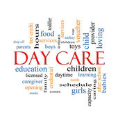 Day Care Word Cloud Concept — Stock Photo