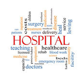 Hospital Word Cloud Concept — Stock Photo