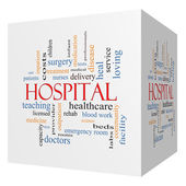 Hospital 3D Cube Word Cloud Concept — Stock Photo