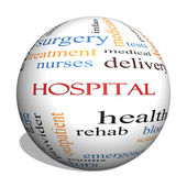 Hospital 3D Sphere Word Cloud Concept — Stock Photo
