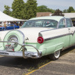 图库照片: 1956 Ford Fairlane Crown VictoriGreen White Side View