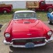 Stock Photo: 1957 Red Ford Thunderbird Front View