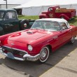 Stock Photo: 1957 Red Ford Thunderbird