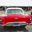 Stock Photo: 1957 Red Ford Thunderbird Rear View