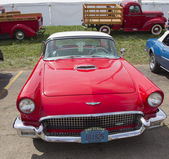 1957 Red Ford Thunderbird Front View — Stock Photo