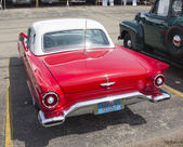 1957 Red Ford Thunderbird Back View — Stock Photo