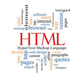 HTML Word Cloud Concept — Stock Photo
