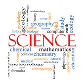 Science Word Cloud Concept — Stock Photo