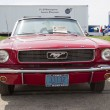 1966 Red Ford Mustang Convertible Front View — Stock Photo #38596427