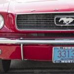 Постер, плакат: 1966 Red Ford Mustang Convertible headlight