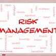 Risk Management Word Cloud Concept on Whiteboard — Stock Photo #38596813