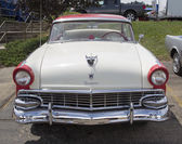 1956 White and Red Ford Victoria Fairlane — Stock Photo