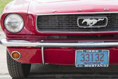 1966 Red Ford Mustang Convertible headlight — Stock Photo