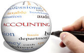 Hand Writing on Accounting Cirlce word concept — Stock Photo