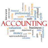 Accounting Word Cloud Concept — Stock Photo